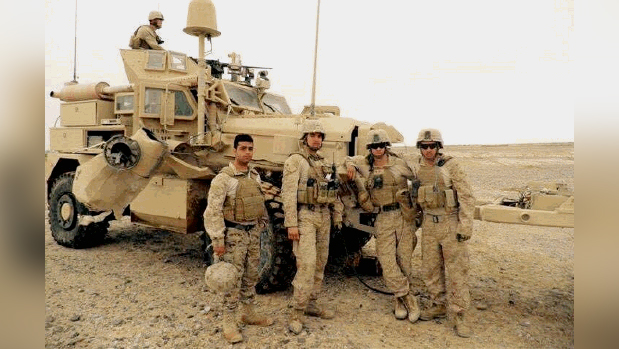 """Solider from South Delco and """"Carl"""" from Kabul"""
